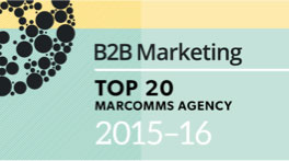B2B Marcomms Top 20 Marketing Agency 2015-16