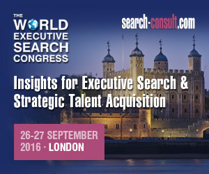The 2016 World Executive Search Congress - Sep 26-27, London, UK