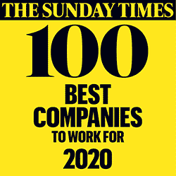 The Sunday Times Best Companies to Work For 2020 Logo