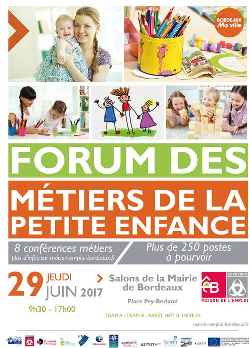Le forum des métiers de la petite enfance aura lieu le 29 juin 2017 à Bordeaux