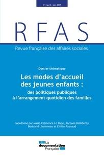 Les modes d'accueil des jeunes enfants : des politiques publiques à l'arrangement quotidien des familles