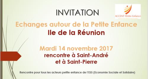 Save the date : Rencontre autour de la Petite Enfance, Ile de la Réunion, mardi 14 novembre 17