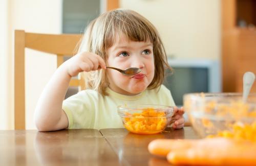 L'alimentation équilibrée d'un enfant de deux ans