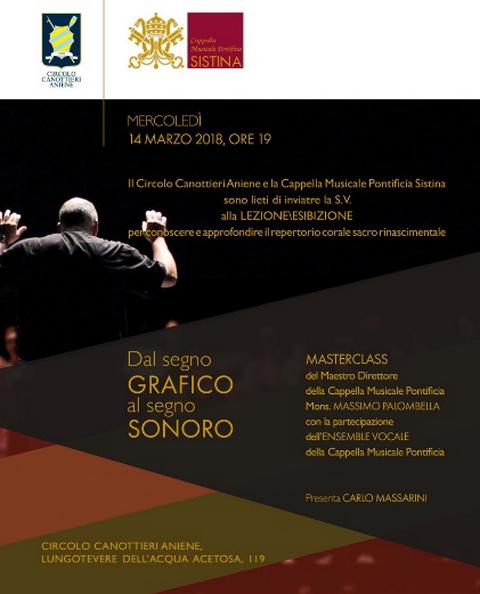 Masterclass Circolo Canottieri Aniene: Dal segno GRAFICO al segno SONORO