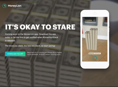 IT'S OKAY TO STARE - MoneyLion's App brings Apple's new AR toolkit to Personal Finance