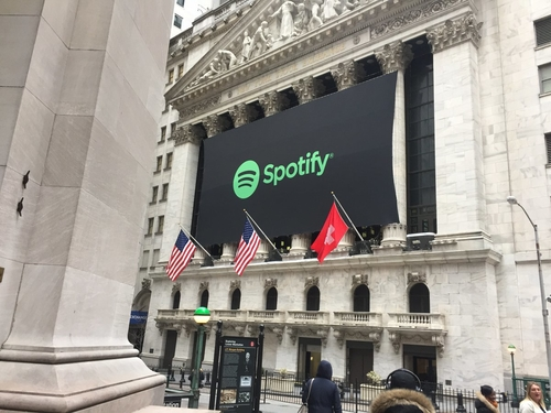 Spotify Is Greeted by Wall Street With a Swiss Flag, Even Though It's From Sweden