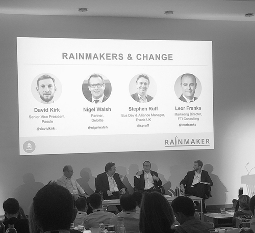 3 things to help you thrive as a rainmaker in today's modern world; from the panel discussion at #Rainmaker18
