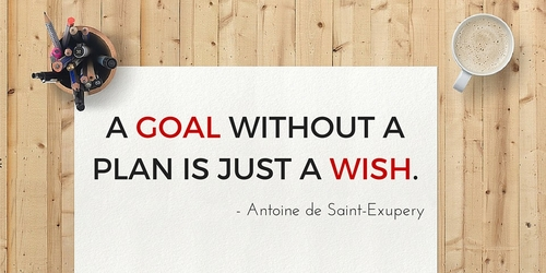 A goal without a plan is a just a wish....