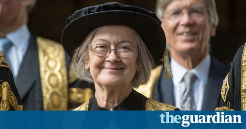 Brenda Hale sworn in as first female president of UK's supreme court