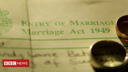 Both parents' names to be recognised on marriage certificates