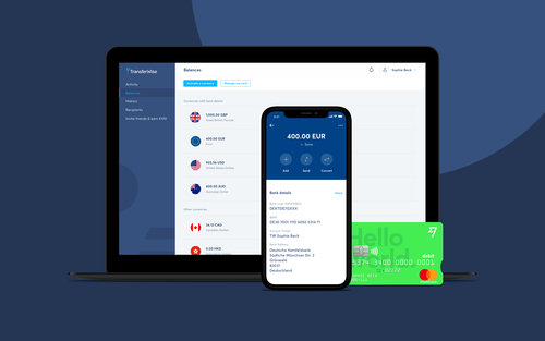 Expanding beyond it's money transfer roots, TransferWise is launching a bank account and debit card