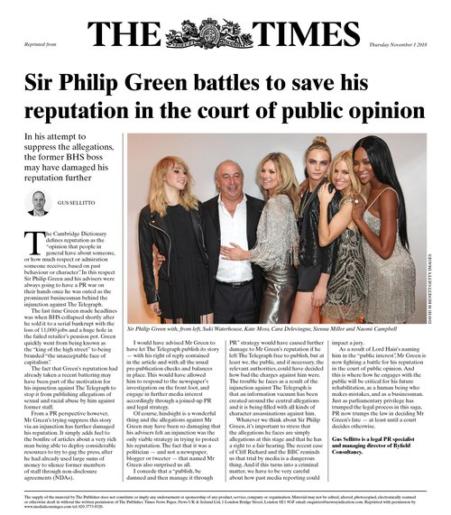 Byfield MD Gus Sellitto writes for The Times