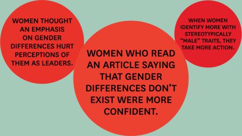 Women benefit when they downplay gender