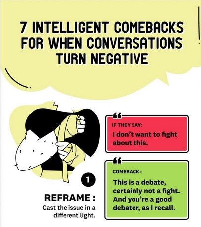 7 intelligent comebacks for when conversations turn negative
