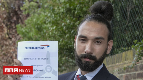 Man bun hairstyle 'gets British Airways worker the sack'