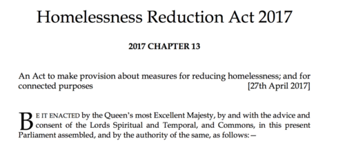 A False Dawn for Weary Landlords? The Homelessness Reduction Act 2017