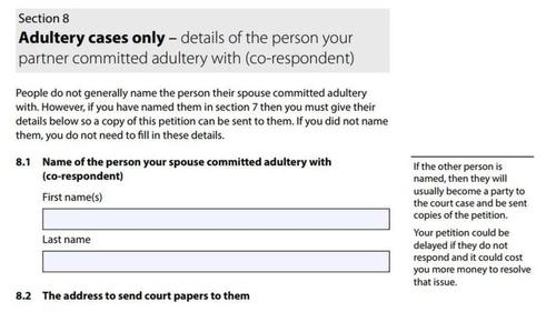 New divorce petition