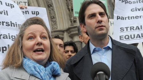 Heterosexual couple take civil partnership case to Supreme Court