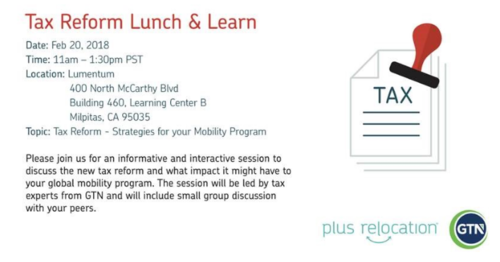 Tax Reform Lunch & Learn session