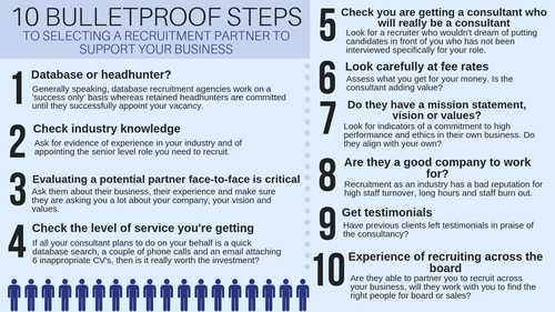 10 bulletproof steps to selecting a recruitment partner for your business