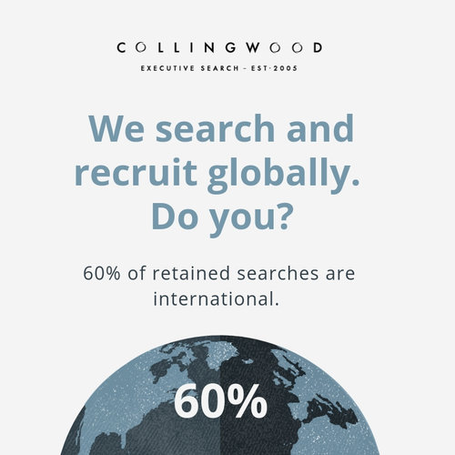 60% of our senior recruitment projects have been delivered outside the UK during 2018!