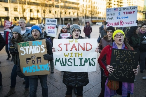 Data Science Applied to the 'Muslim Ban'