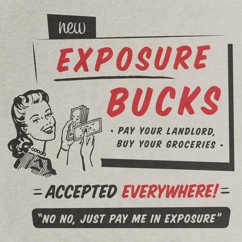 Freelancers: don't die of 'exposure'