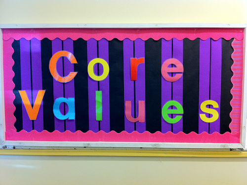Let's talk Values - it doesn't have to be 'corporate speak'.