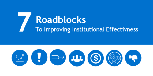7 Roadblocks to Improving Institutional Effectiveness [infographic]