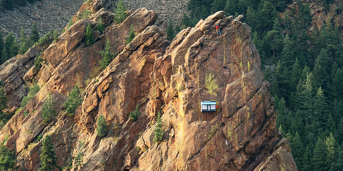 Outdoor brand 37.5 Technology opened a remote pop-up shop 300 feet up on the side of a cliff