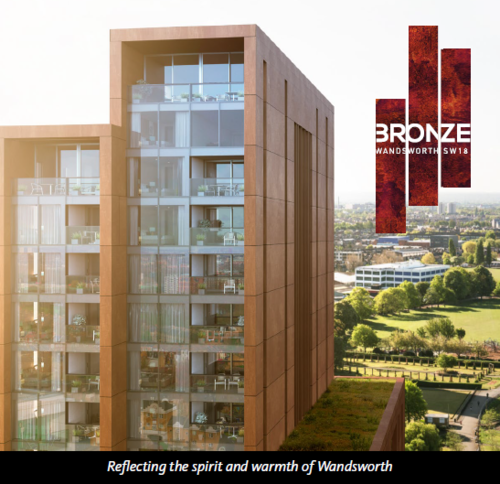 BRONZE - new residential development in Wandsworth, London