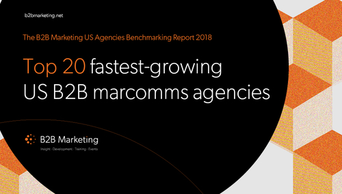 Kingpin named in B2B Marketing's 'Top US B2B Marcomms Agency' league table.