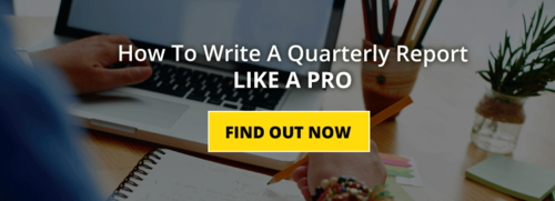 Are you on top of your quarterly reports?