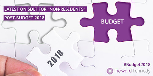 What's the latest about the SDLT surcharge for non-residents post-budget 2018?