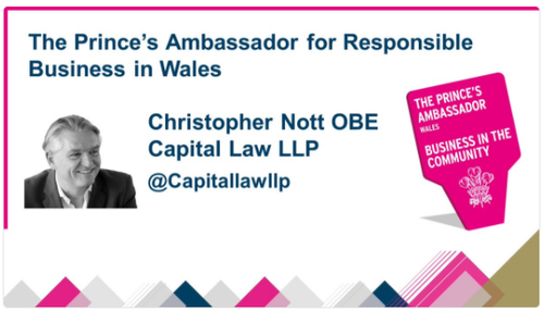 Senior Partner, Chris Nott, is appointed as new Prince's Ambassador for Responsible Business in Wales