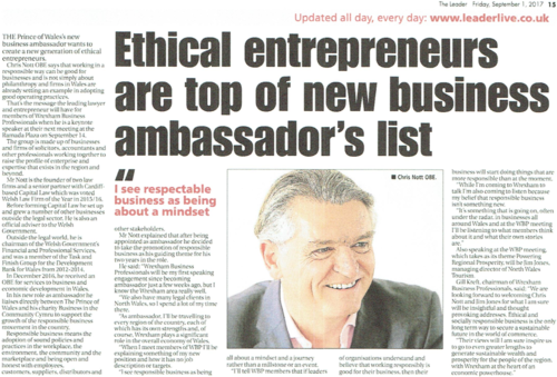 Ethical entrepreneurs top of list: The Leader