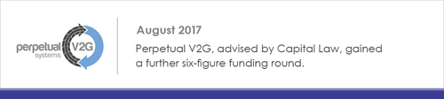 Capital Law advises Perpetual V2G on their six-figure funding round