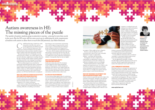 Autism awareness in HE: the missing pieces of the puzzle