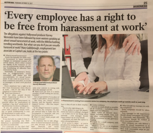 #MeToo: sexual harassment at work