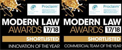 Capital shortlisted for the Modern Law Awards