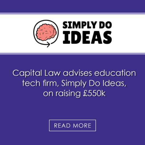 Capital Law advises education tech firm on raising £550k