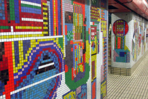 Well worth a viewing - the restored Tottenham Court Road mosaic