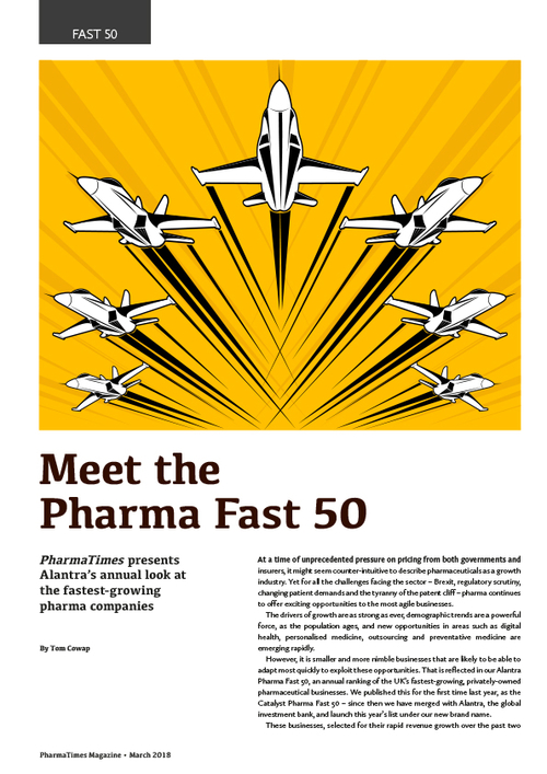 The Alantra Pharma Fast 50