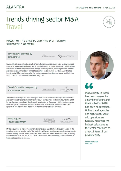 Trends driving M&A in Travel - H1 2018