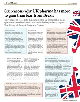 Six reasons why UK pharma has more to gain than fear from Brexit