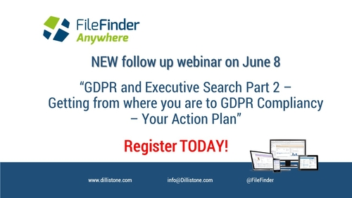 Follow-up GDPR Webinar on June 8 - attend to get your action plan!