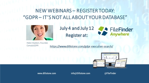 NEW WEBINARS: GDPR and Executive Search – it's not all about your database!