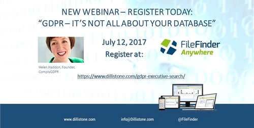 NEW WEBINAR: GDPR and Executive Search – it's not all about your database!