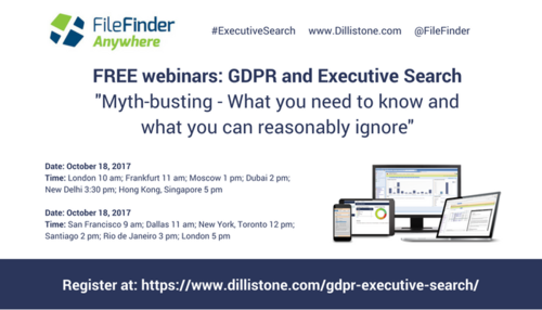 Executive Search and GDPR: Myth-busting - what you need to know and what you can reasonably ignore