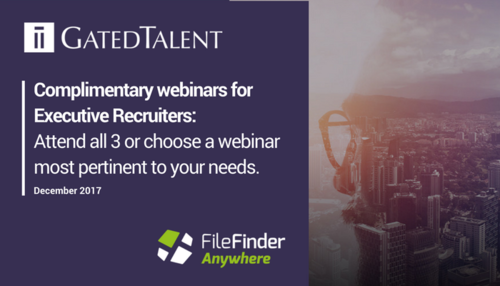Complimentary Webinars for Executive Recruiters this December